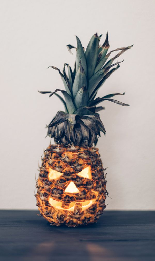 scary pineapple pumpkin
