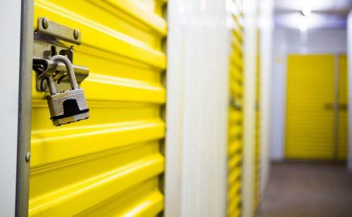 Close up of the smart storage units