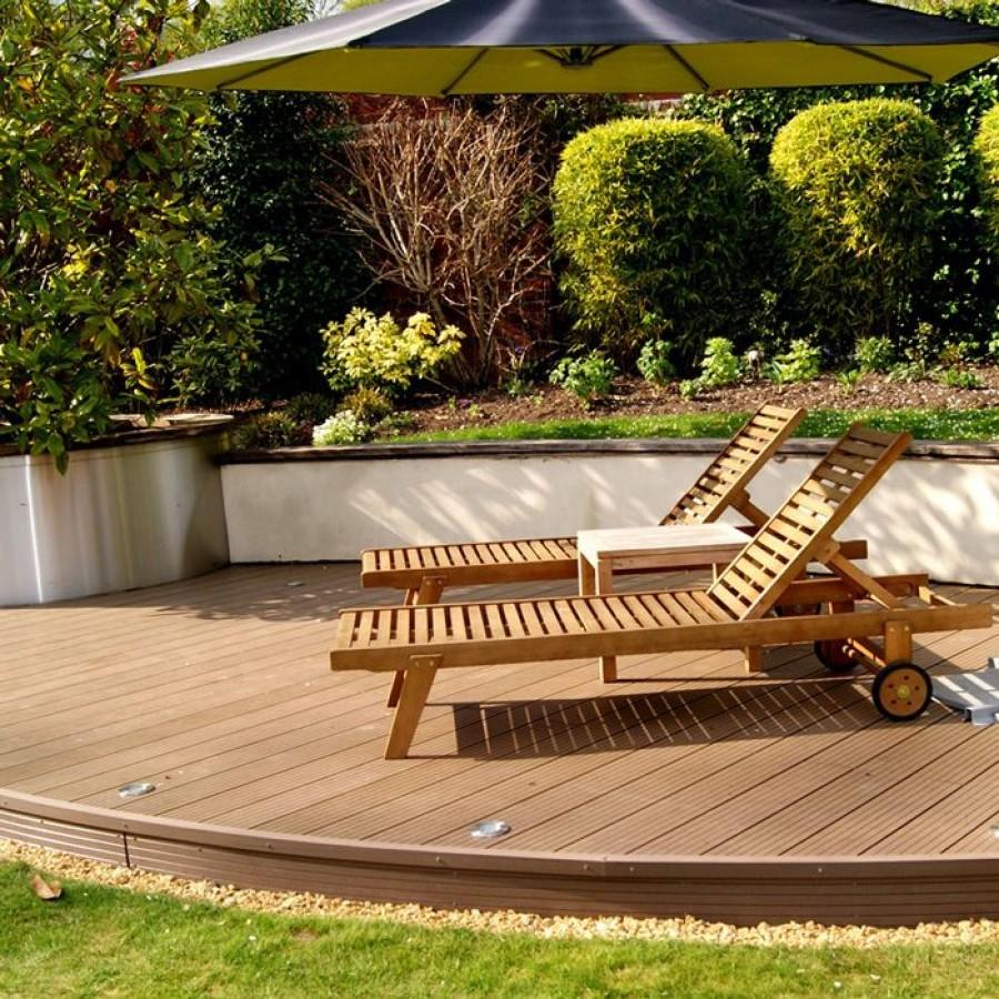 Garden decor ideas smart storage for Composite garden decking