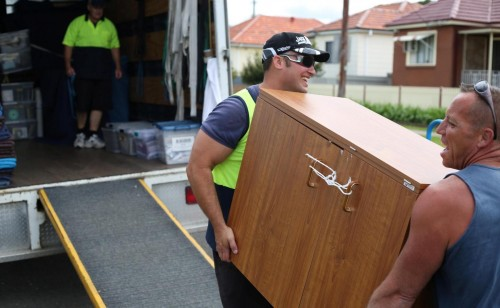 Image showing movers loading a van