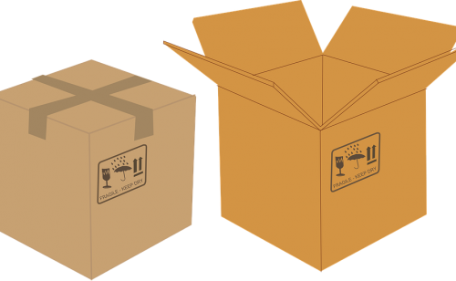 Image of boxes for use in the downsizing of a property.