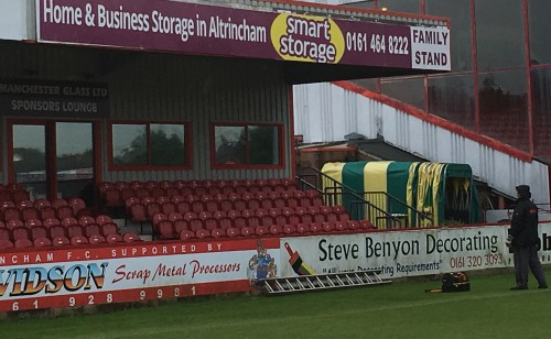 Image showing the Smart Storage stand at Altrincham FC
