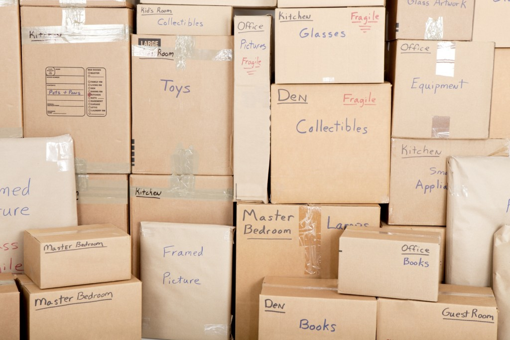 Labelled Moving Boxes