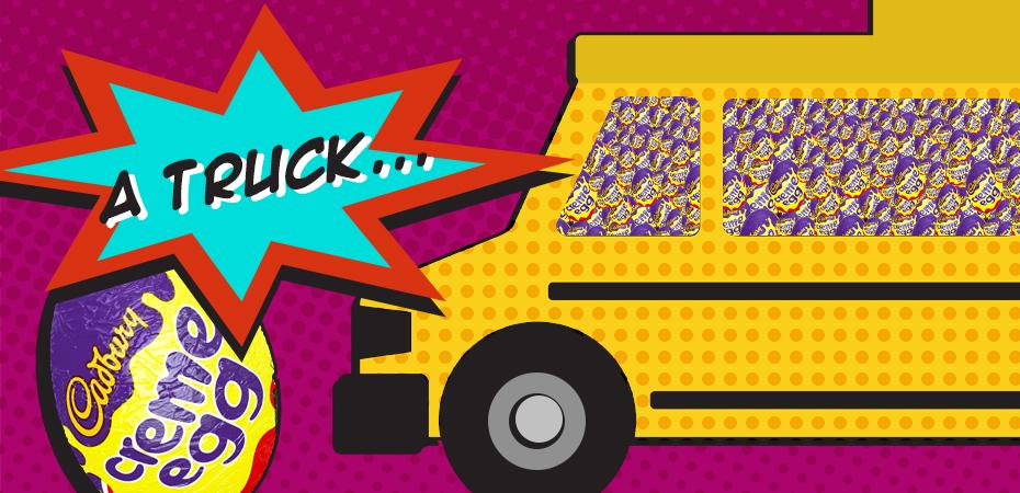 A truck full of Creme Egg Minis