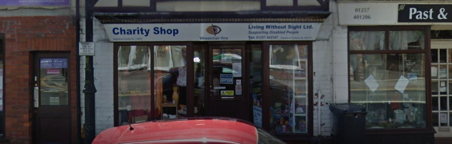 Living Without Sight Charity Store Exterior