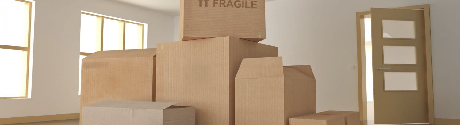 Packed Cardboard Boxes ready for self storage