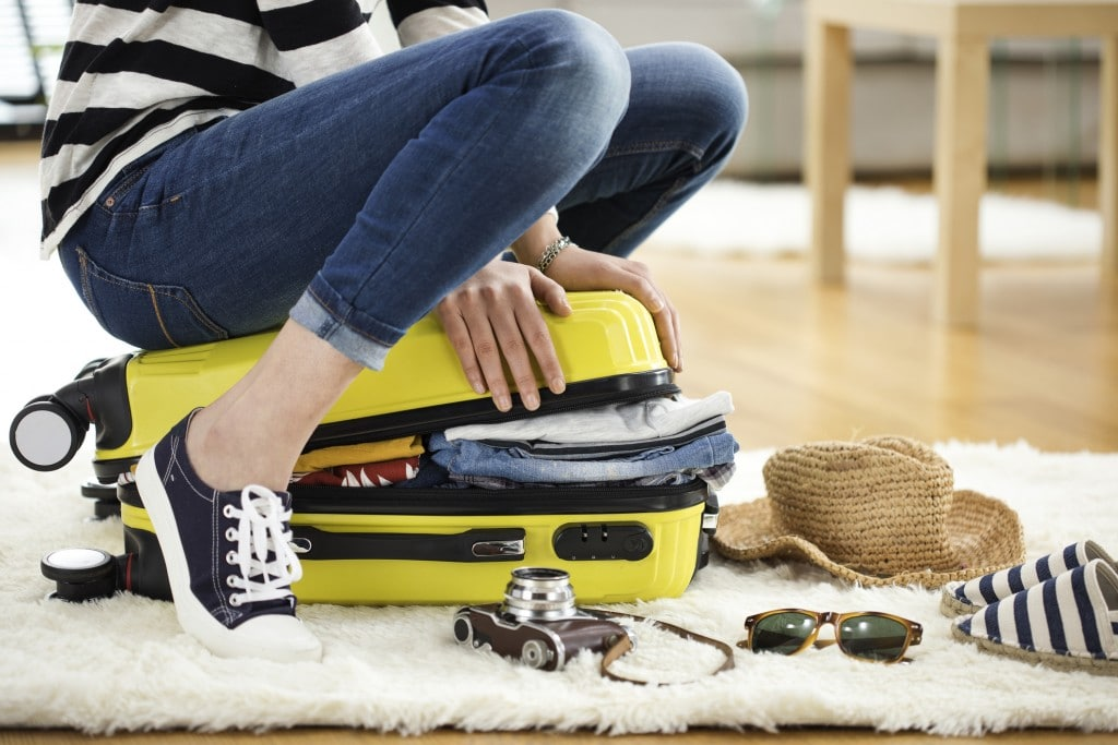 Preparation travel luggage