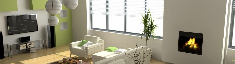 modern interior design - decluttered space