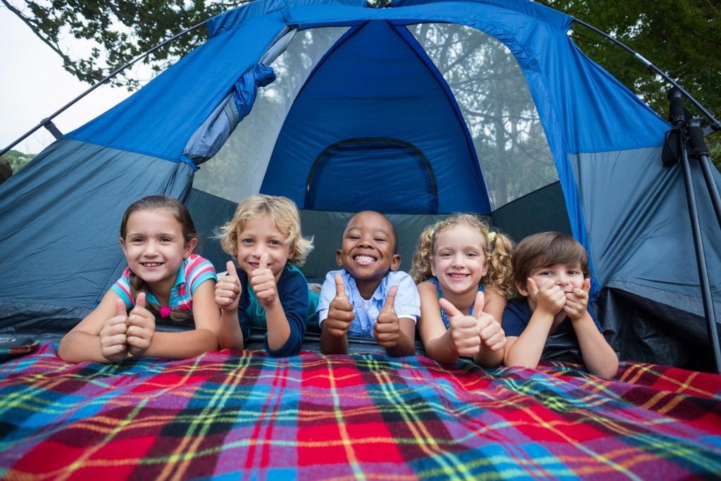Children Enjoying Camping