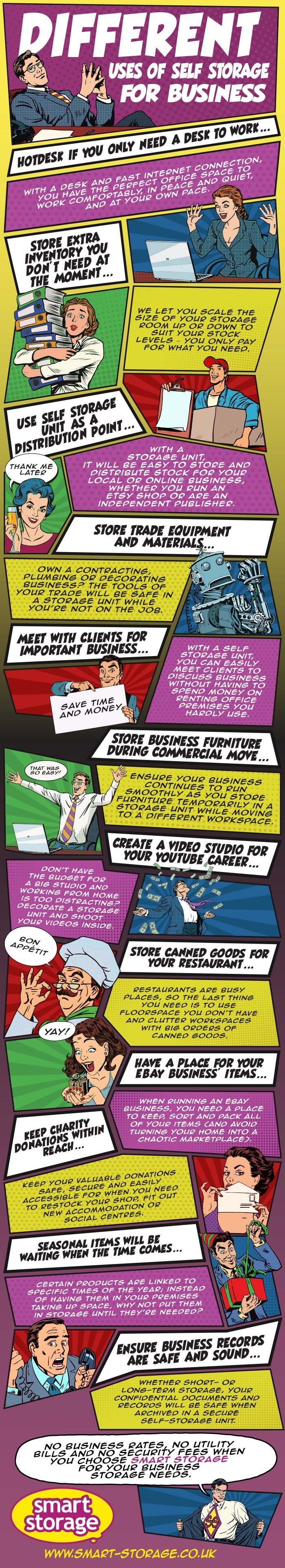 Self Storage for Business Infographic