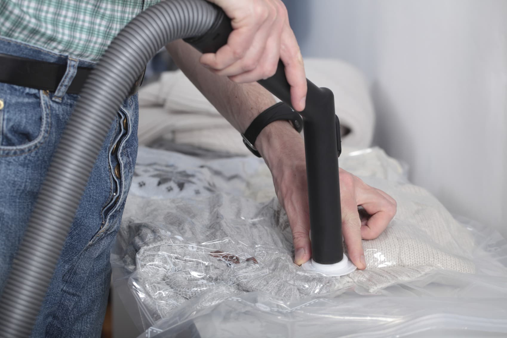 Vacuum pack for clothes