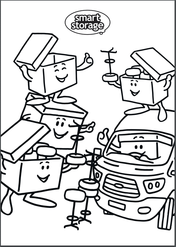 Smart Storage Colouring in Page